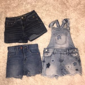 Jean bundle ⭐️shorts and overalls